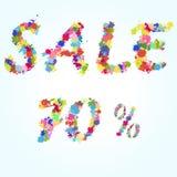 Ejemplo del chapoteo del cartel de la venta Foto de archivo libre de regalías