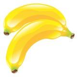 Ejemplo del clipart del icono de la fruta del plátano Fotografía de archivo libre de regalías