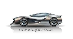 Ejemplo del coche del concepto stock de ilustración