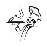 Ejemplo del cocinero patilludo Imagen de archivo libre de regalías