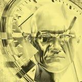 Ejemplo del concepto 3D del tiempo Imagenes de archivo