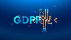 Ejemplo del concepto de GDPR Abreviatura general de la regulación de la protección de datos Ley sobre la protección de datos pers fotografía de archivo libre de regalías