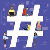 Ejemplo del concepto de Hashtag libre illustration