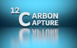 Ejemplo del concepto de la captura del carbono ilustración del vector