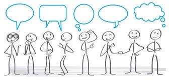 Ejemplo del concepto de la comunicación libre illustration