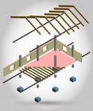 Ejemplo del concepto de la estructura de la casa Fotografía de archivo
