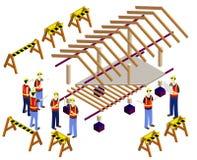 Ejemplo del concepto de la estructura de la casa Imágenes de archivo libres de regalías