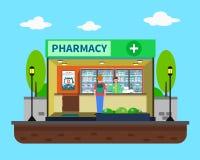 Ejemplo del concepto de la farmacia Imágenes de archivo libres de regalías