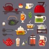Ejemplo del concepto de la fiesta del té Fotos de archivo