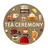 Ejemplo del concepto de la fiesta del té imagen de archivo libre de regalías