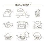Ejemplo del concepto de la fiesta del té fotografía de archivo libre de regalías