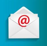 Ejemplo del concepto de la protección del email Foto de archivo libre de regalías