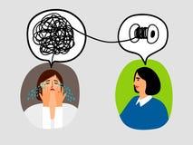Ejemplo del concepto de la psicoterapia Imagenes de archivo