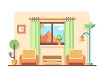 Ejemplo del concepto de la sala de estar Fotografía de archivo