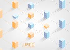 Ejemplo del concepto de la tecnología de la cadena de bloque - blockchain - stock de ilustración