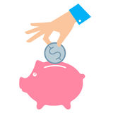 Ejemplo del concepto de los ahorros del dinero Foto de archivo libre de regalías