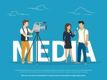 Ejemplo del concepto de los medios de comunicación Fotos de archivo libres de regalías