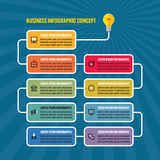 Ejemplo del concepto del negocio de Infographic Bombilla - banderas creativas del proceso de la idea libre illustration