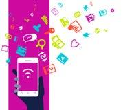 Ejemplo del concepto del negocio del dispositivo del teléfono móvil Imagen de archivo libre de regalías
