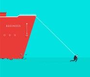 Ejemplo del concepto del negocio del vector del hombre fuerte stock de ilustración