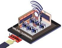 Ejemplo del concepto en línea gráfico de la educación de la información Imagen de archivo