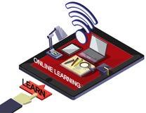 Ejemplo del concepto en línea gráfico de la educación de la información Fotos de archivo libres de regalías