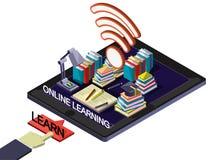 Ejemplo del concepto en línea gráfico de la educación de la información Imagen de archivo libre de regalías