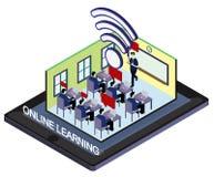 Ejemplo del concepto en línea gráfico de la educación de la información Fotografía de archivo libre de regalías