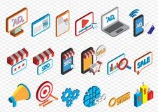 Ejemplo del concepto en línea gráfico del márketing de la información Fotografía de archivo