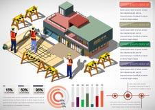 Ejemplo del concepto gráfico de la estructura de la casa de la información Foto de archivo libre de regalías