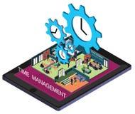 Ejemplo del concepto gráfico de la gestión de tiempo de la información Fotos de archivo libres de regalías