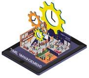 Ejemplo del concepto gráfico de la gestión de tiempo de la información Foto de archivo libre de regalías