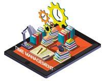 Ejemplo del concepto gráfico de la gestión de tiempo de la información Imagenes de archivo