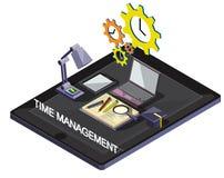 Ejemplo del concepto gráfico de la gestión de tiempo de la información Fotografía de archivo libre de regalías