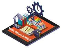 Ejemplo del concepto gráfico de la gestión de tiempo de la información Imágenes de archivo libres de regalías