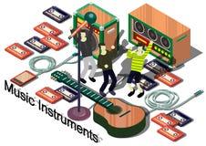 Ejemplo del concepto gráfico de los instrumentos de música de la información ilustración del vector