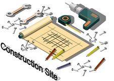 Ejemplo del concepto gráfico del emplazamiento de la obra de la información Imagenes de archivo