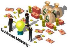Ejemplo del concepto gráfico del equipo del dinero de la información Fotografía de archivo libre de regalías