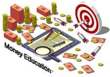 Ejemplo del concepto gráfico del equipo del dinero de la información Fotos de archivo