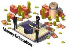Ejemplo del concepto gráfico del equipo del dinero de la información Fotografía de archivo