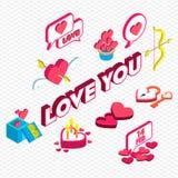 Ejemplo del concepto gráfico del icono de la tarjeta del día de San Valentín de la información Fotos de archivo libres de regalías