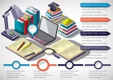 Ejemplo del concepto infographic de la educación Imagen de archivo