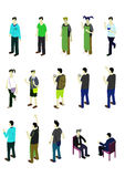 Ejemplo del concepto infographic de la gente Foto de archivo libre de regalías