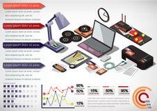 Ejemplo del concepto interior gráfico de la oficina de la información Fotos de archivo libres de regalías