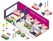 Ejemplo del concepto interior infographic del sitio Imagen de archivo