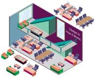 Ejemplo del concepto interior infographic del sitio Imagen de archivo libre de regalías