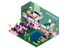 Ejemplo del concepto interior infographic del sitio Fotos de archivo libres de regalías