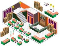 Ejemplo del concepto interior infographic del sitio Fotografía de archivo