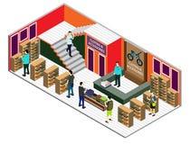 Ejemplo del concepto interior infographic del sitio Fotografía de archivo libre de regalías