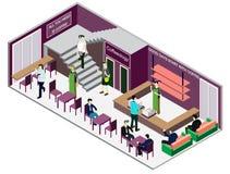 Ejemplo del concepto interior infographic del sitio Imágenes de archivo libres de regalías